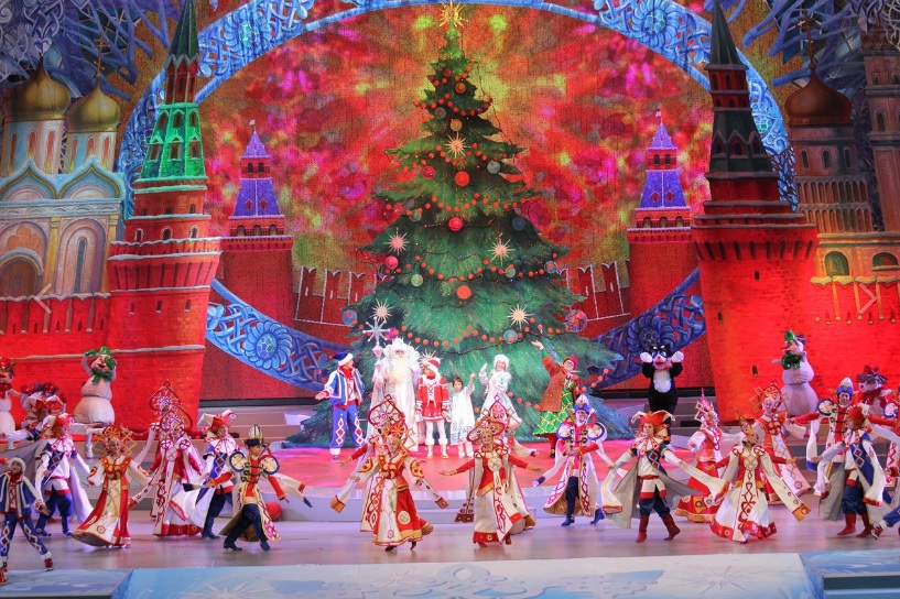 Театрализованный спектакль на сцене Государственного Кремлевского дворца
